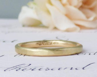 Ethical Wedding Ring - Wedding Band for Women - Gold Wedding Ring - Unique Wedding Ring - 18ct Gold Ethical Band - Hammered Gold Band