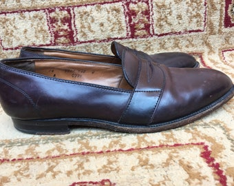 Alden Bespoke OSCC Rare Shell Cordovan full strap Penny Loafer 0329 10 A/C Made in USA