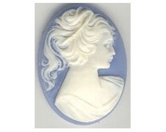 40x30mm silhouette cameo blue white resin cameo victorian style cabochon diy wedding favors cameo jewelry supply loose unset cameo 57r