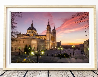 Madrid Royal Palace Sunset. Landscapes of Spain. Printable image for download. From Spain with Love