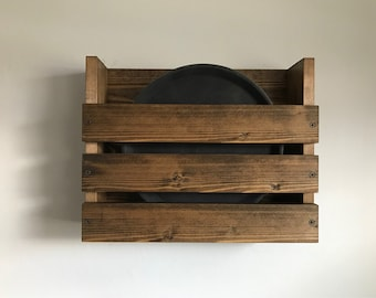 Rustic wood rack for serving trays, Restaurant Menu Holder, bar or brewery serving trays, Drinks trays holder, Rustic, Restaurant, Wood rack