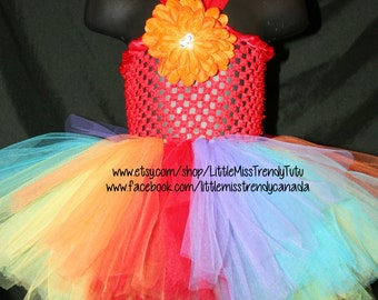 Rainbow Tutu Dress, Children's Tutu Dress, Rainbow Tutu