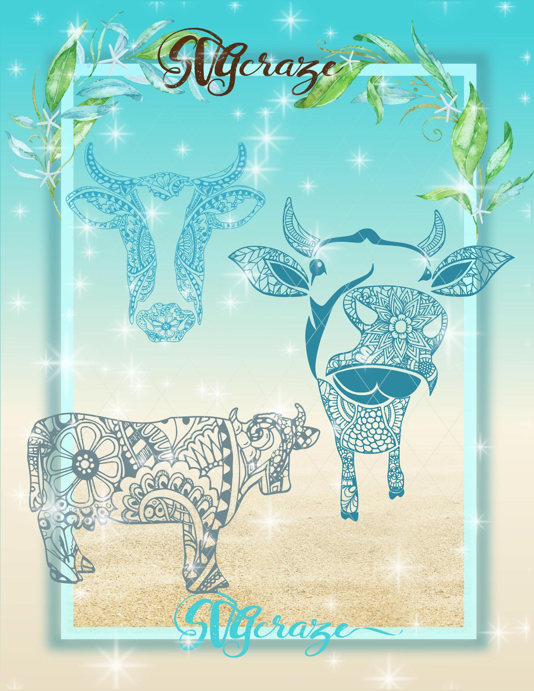 Cow Mandala Mandala SVG Cow Svg Cow Decal Cow Mandala