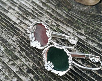 12mm Silver Crowned French Earrings