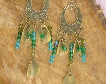 Bronze retro chic earrings swarovski
