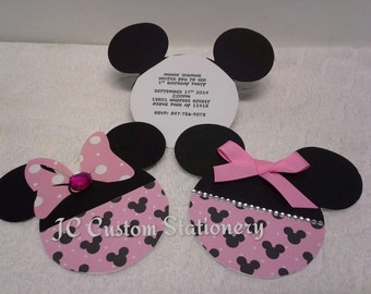 Disney Inspired Minnie mouse Invitations