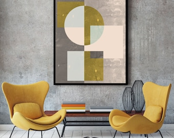 Mid century wall art, print, geometric art, abstract art, mid century art,  wall art,  modern art, contemporary art, giclee prints