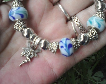 Fairy In flight, Euro style bracelet