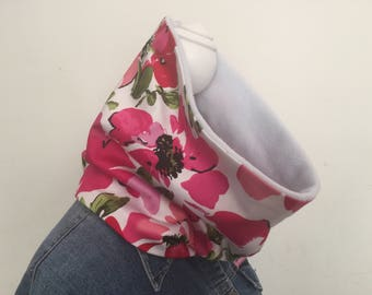 Cowl, neck warmer, infinity scarf, floral,