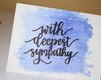 With Deepest Sympathy Watercolor Card