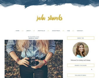 "Blogger Template, Blog Template, Mobile Responsive - ""Jada 