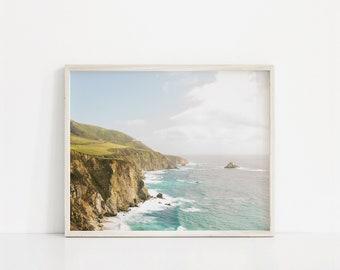 ocean print, big sur large wall art, big sur photography, landscape home decor, waves wall art, gift for her, california coastline art print