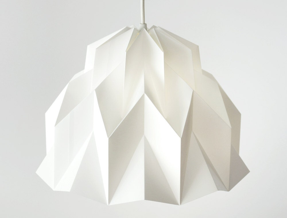 Ruffle origami polypropylene lamp shade white fiberstore zoom mozeypictures Image collections
