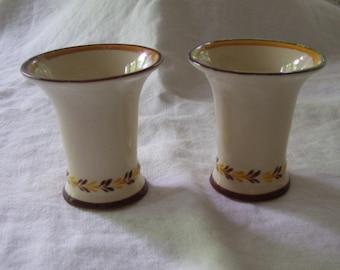 Arabia Finland Candle Holder Pair  Arabia Suomi Vintage
