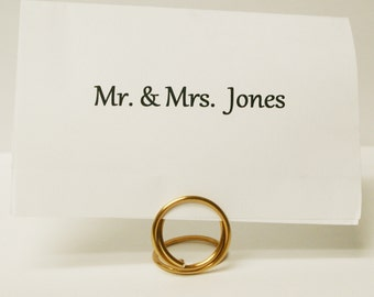 Gold Name Card Place Holders (small)