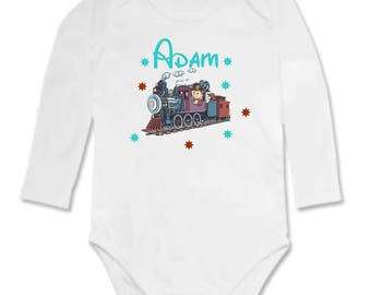 Train personalized with name Bodysuit