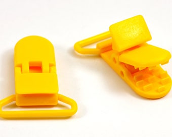 Clips, clips, Pacifier Clips / pacifier 25mm - yellow Buttercup - unity - Ref: CCA ATBO 009