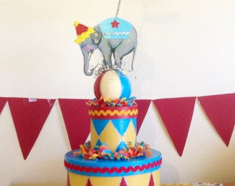 Stackable Circus Party Box/Elephant Box