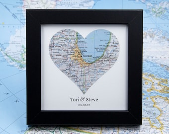 Custom Map Art Valentine Day Gift for Him Newlywed Gift Engagement Gifts for Best Friend Anniversary Gifts for Boyfriend Couples Gift