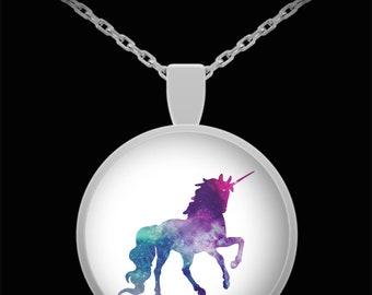 Colorful unicorn pendant