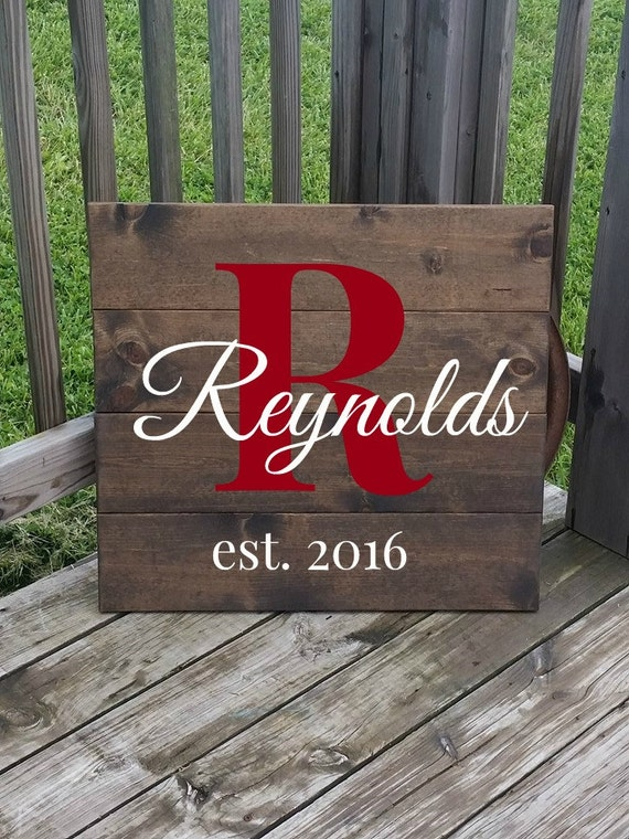 Wooden Name Sign Rustic Last Name Sign Gift For Wedding