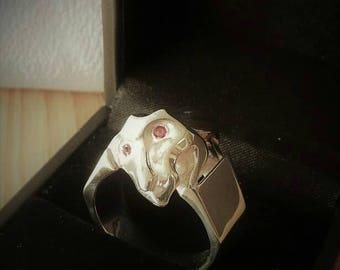 Gargoyle snake ring