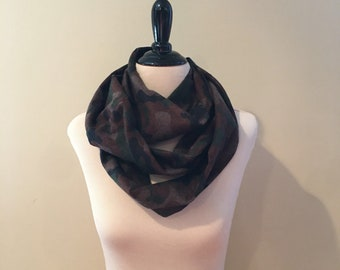 Infinity Scarf Traditional Camo Flannel