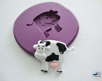 Cow Mold - Farm Animal Mold - Silicone Molds - Polymer Clay Resin Fondant