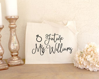 Future Mrs - Future Mrs Tote Bag - Engagement Gifts for Her - Engaged Gifts - Bride to Be Gift - Bride to Be Tote Bag - Newly Engaged Tote