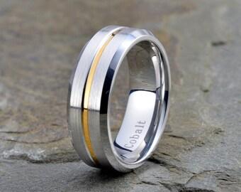 Cobalt Wedding Band, Cobalt Wedding Ring, 18K Yellow Gold, Cobalt Ring, Custom Cobalt Band, Anniversary Ring, Engagement Band, Comfort Fit