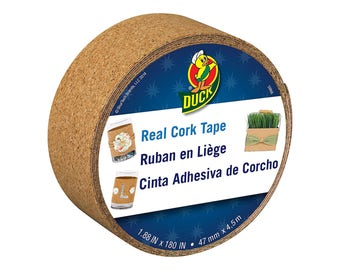 """Duck Cork Tape, Real Cork, 1.88"""" wide, 5 yards long, Adhesive-backed"""