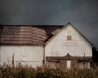 Flag Barn Home Decor Wall Art Fine Art Photography