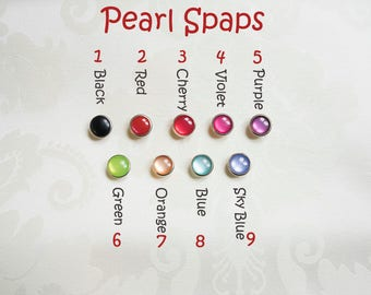 Upgrade pearl snaps for your beautiful spats