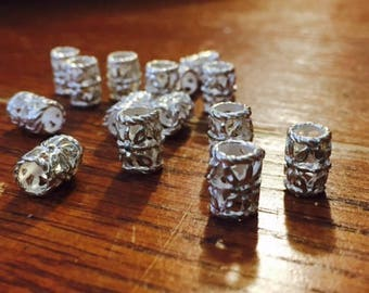 Beads - 15 Silver-plated