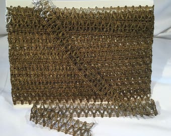 Vintage Early 20th C. Gold Metallic Trim 10 yds 8 inches