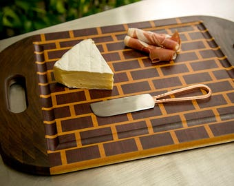 "Purple Heart "" Brick Wall"" Chopping/Serving Board"