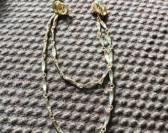 Vintage Retro Sweater Pin Gold Tone