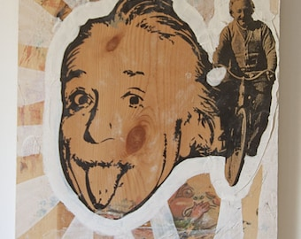 Albert Einstein Acrylic Transfer