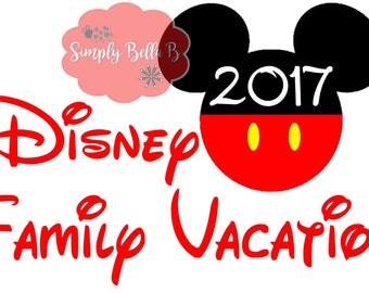 Disney Family Vaction INSTANT DOWNLOAD Printable Digital Iron-On Transfer Design - DIY - Disney Vacation