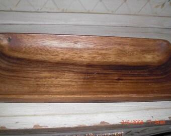 """14"""" CANOPY Acacia Wood Tray Boho Phillipines"""