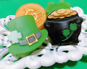 St Patrick's Day Soap Set, Guest Soaps, Party Favors, Travel Doaps, Kids Soaps, Soap Gift