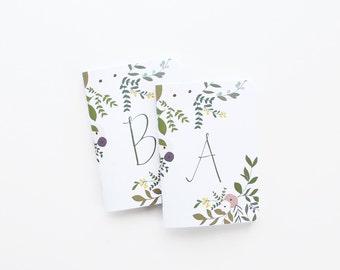 Sale | Discontinued: Wild Garden Monogram Pocket Journal