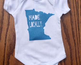 Minnesota Made Locally bodysuit