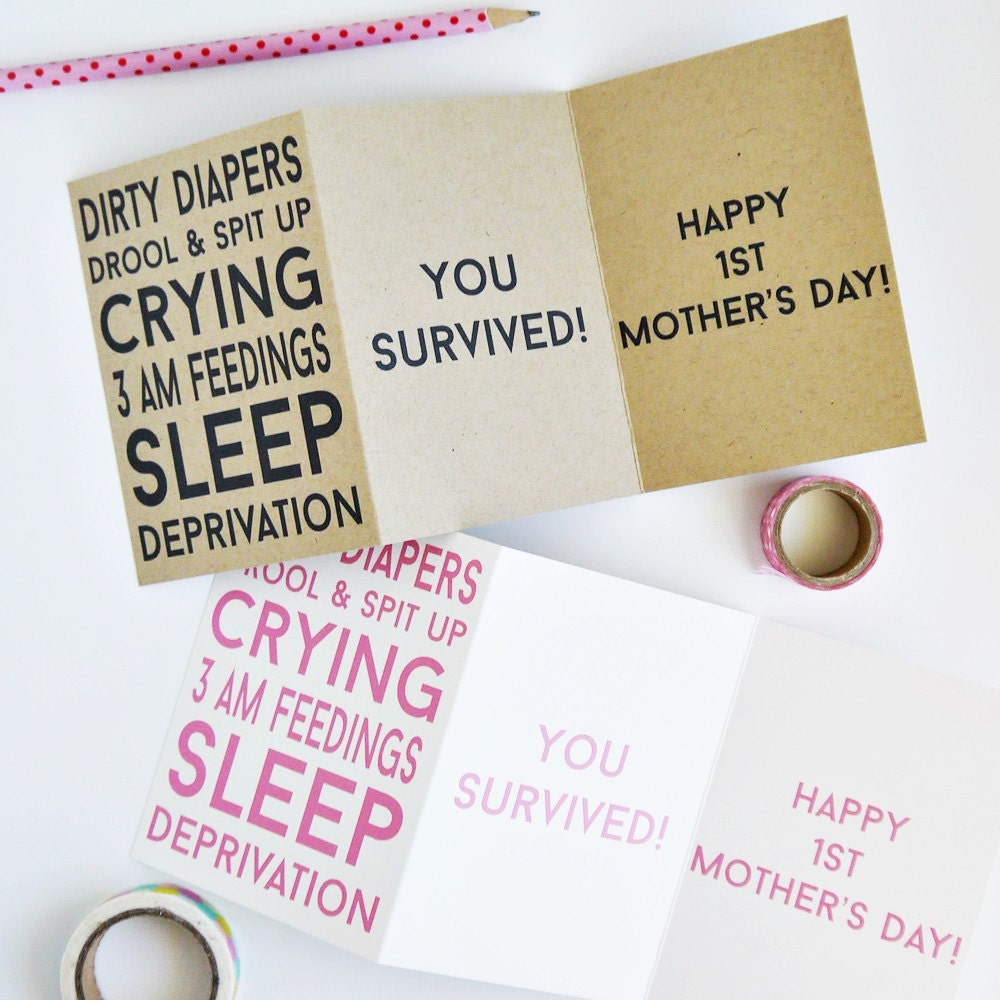 New mom funny mothers day card first mothers day zoom m4hsunfo