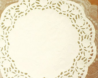 30 Rose Flower Lace Paper Doilies (8.5in)