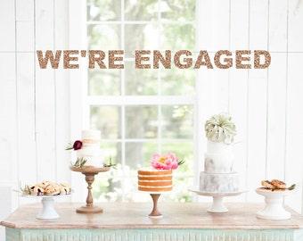 We're Engaged Banner, Engagement Banner, Engagement Party, Engagement Sign, We're Engaged, Engagement Decor, Bridal Shower Decorations