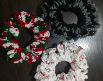Crocheted Scrunchie / Ponytail Hair Tie