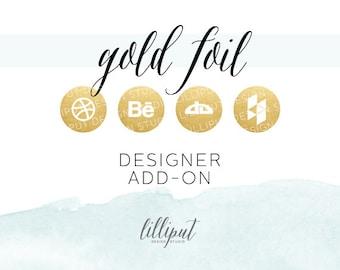 Gold Foil Social Media Icons | Designer Add-On Pack