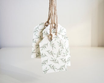 Leaf Print Gift Tags | Pack of 5 | Floral Gift Tags | Green Leaf Print