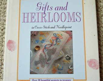 Gifts and Heirlooms in Cross Stitch and  Needlepoint  Hardcover Book